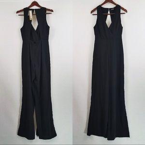 Black Backless Wide-Leg Jumpsuit Lulus DO+BE